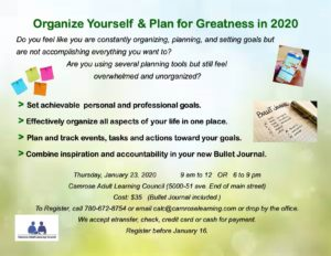 Organize Yourself and Plan for Greatness in 2020